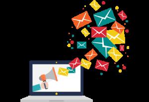 Animierte Darstellung einer zielgruppenorientierten E-Mail-Marketingkampagne.